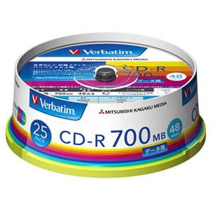 (三菱化学メディア) バーベイタム SR80FP25V1 データ用CD-R 25枚