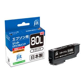 (ジット) JIT JIT-E80BL ブラック インクカートリッジ