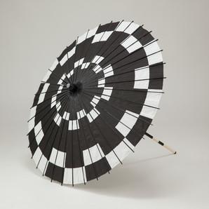 (フルヤ)FURUYA 紙傘76cm 市松 / 黒 PK-0722