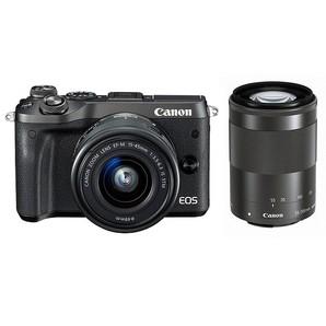 (キヤノン) Canon EOS M6 ダブルズームキット ブラック