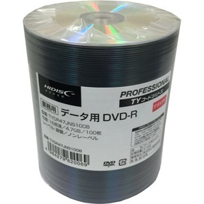 (ハイディスク)HIDISC TYDR47JNS100B データ用DVD-R 100枚業務用パック