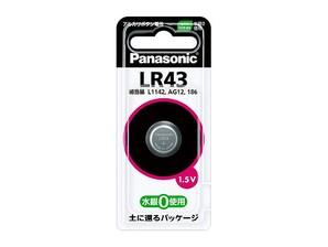 (パナソニック) Panasonic LR43P アルカリボタン