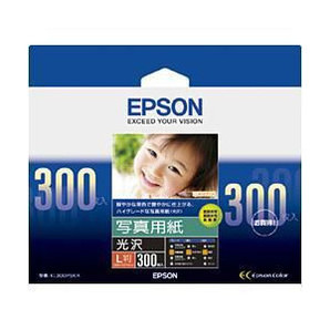 (エプソン) EPSON KL300PSKR  写真用紙(光沢) L判 300枚