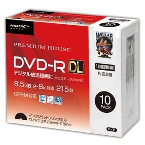 SALE!! (ハイディスク) HIDISCDVD-R DL 8倍速対応 8.5GB 1回 CPRM対応 録画用 10枚