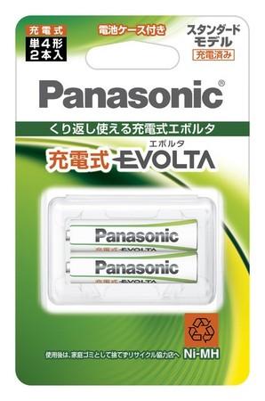 (パナソニック)Panasonic 充電式エボルタ 単4形 (スタンダードモデル) BK-4MLE/ NEW