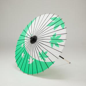 (フルヤ)FURUYA 紙傘64cm 紅葉 / 緑 PK-0612