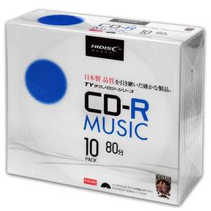 SALE!!(ハイディスク)HIDISC TYCR80YMP10SC 音楽用CD-R 10枚
