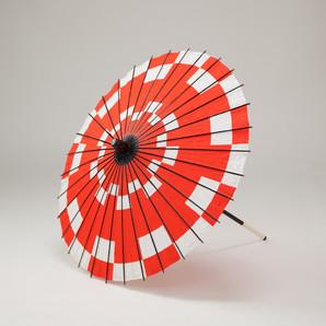 (フルヤ)FURUYA 紙傘64cm 市松 / 赤 PK-0621