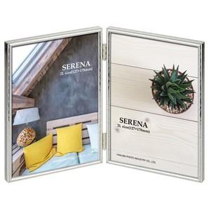 (ハクバ) HAKUBA メタルフォトフレーム SERENA(セレーナ)02 2Lサイズ 2面(タテ・タテ) シルバー