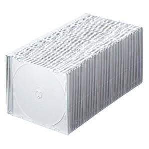 (サンワサプライ)SANWA SUPPLY FCD-PU50 Blu-ray・DVD・CDケース(スリムタイプ・50枚セット)