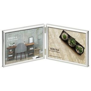 (ハクバ) HAKUBA メタルフォトフレーム SERENA(セレーナ)03 2Lサイズ 2面(ヨコ・ヨコ) シルバー