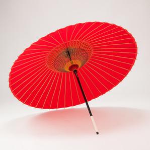 (フルヤ)FURUYA 羽二重傘 105cm 無地 / 赤