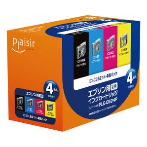 (プレジール) Plaisir  PLE-E62 4P  エプソン62シリーズ 6色パック