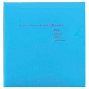 (フエル)NAKABAYASHI アルバム 白フリー台紙 20枚 フォトレンジ 【ブルー】 20L-92-B