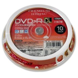 (ハイディスク) HIDISC CPRM対応 録画用 DVD-R DL 片面2層 8.5GB 10枚