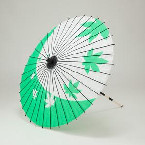 (フルヤ)FURUYA 紙傘76cm 紅葉 / 緑 PK-0712