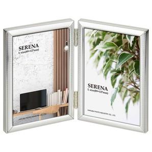 (ハクバ) HAKUBA メタルフォトフレーム SERENA(セレーナ)03 Lサイズ 2面(タテ・タテ) シルバー