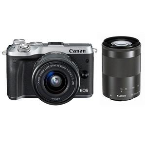 (キヤノン) Canon EOS M6 ダブルズームキット シルバー