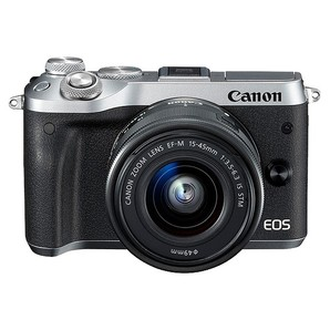 (キヤノン) Canon EOS M6 EF-M15-45 IS STMレンズキット シルバー