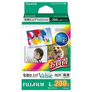 (フジフイルム) FUJIFILM  WPL200VA  写真仕上げValue/L判 200枚